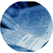 open-bible-blue-background